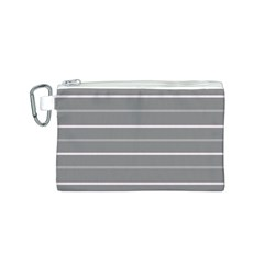Horizontal Line Grey Pink Canvas Cosmetic Bag (s)