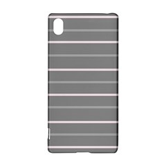 Horizontal Line Grey Pink Sony Xperia Z3+