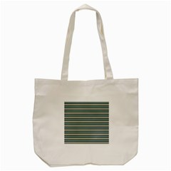 Horizontal Line Grey Blue Tote Bag (cream)