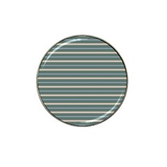 Horizontal Line Grey Blue Hat Clip Ball Marker (10 Pack)