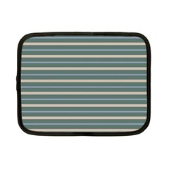 Horizontal Line Grey Blue Netbook Case (small)