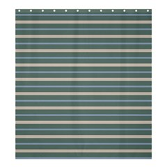 Horizontal Line Grey Blue Shower Curtain 66  X 72  (large)