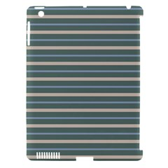 Horizontal Line Grey Blue Apple Ipad 3/4 Hardshell Case (compatible With Smart Cover)