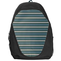 Horizontal Line Grey Blue Backpack Bag
