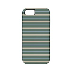 Horizontal Line Grey Blue Apple Iphone 5 Classic Hardshell Case (pc+silicone)