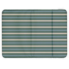 Horizontal Line Grey Blue Samsung Galaxy Tab 7  P1000 Flip Case