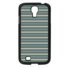 Horizontal Line Grey Blue Samsung Galaxy S4 I9500/ I9505 Case (black)