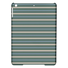 Horizontal Line Grey Blue Ipad Air Hardshell Cases
