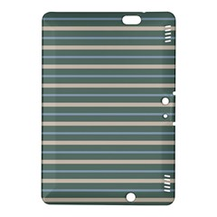 Horizontal Line Grey Blue Kindle Fire Hdx 8 9  Hardshell Case