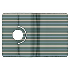 Horizontal Line Grey Blue Kindle Fire Hdx Flip 360 Case