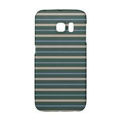 Horizontal Line Grey Blue Galaxy S6 Edge