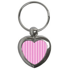 Line Pink Vertical Key Chains (heart)