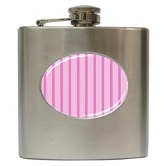 Line Pink Vertical Hip Flask (6 Oz)