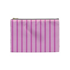 Line Pink Vertical Cosmetic Bag (medium)