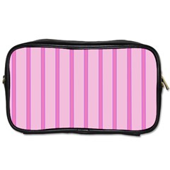 Line Pink Vertical Toiletries Bags