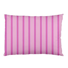Line Pink Vertical Pillow Case (two Sides)