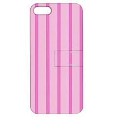 Line Pink Vertical Apple Iphone 5 Hardshell Case With Stand