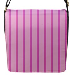 Line Pink Vertical Flap Messenger Bag (s)