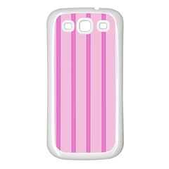 Line Pink Vertical Samsung Galaxy S3 Back Case (white)