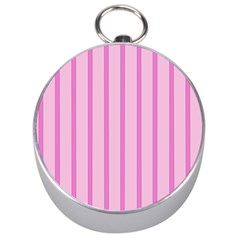 Line Pink Vertical Silver Compasses