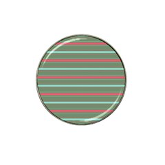 Horizontal Line Red Green Hat Clip Ball Marker (10 Pack)