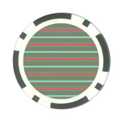 Horizontal Line Red Green Poker Chip Card Guard