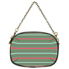 Horizontal Line Red Green Chain Purses (one Side)