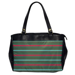 Horizontal Line Red Green Office Handbags