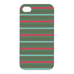 Horizontal Line Red Green Apple Iphone 4/4s Hardshell Case