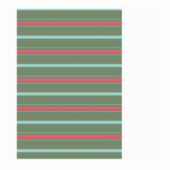 Horizontal Line Red Green Large Garden Flag (two Sides)