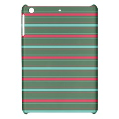 Horizontal Line Red Green Apple Ipad Mini Hardshell Case