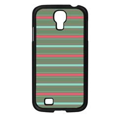Horizontal Line Red Green Samsung Galaxy S4 I9500/ I9505 Case (black)