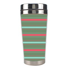 Horizontal Line Red Green Stainless Steel Travel Tumblers
