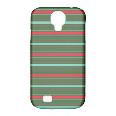 Horizontal Line Red Green Samsung Galaxy S4 Classic Hardshell Case (pc+silicone)