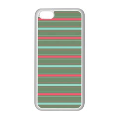 Horizontal Line Red Green Apple Iphone 5c Seamless Case (white)