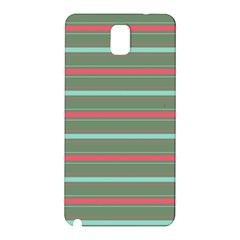 Horizontal Line Red Green Samsung Galaxy Note 3 N9005 Hardshell Back Case