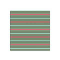 Horizontal Line Red Green Satin Bandana Scarf