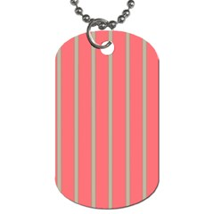 Line Red Grey Vertical Dog Tag (two Sides)