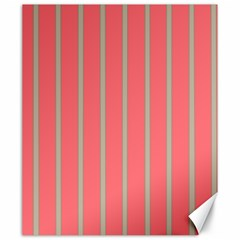 Line Red Grey Vertical Canvas 20  X 24
