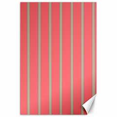 Line Red Grey Vertical Canvas 20  X 30