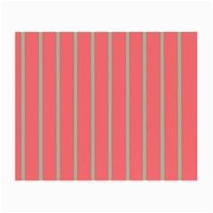 Line Red Grey Vertical Small Glasses Cloth (2 Side)