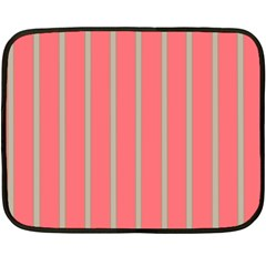 Line Red Grey Vertical Fleece Blanket (mini)