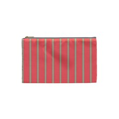 Line Red Grey Vertical Cosmetic Bag (small)