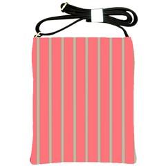 Line Red Grey Vertical Shoulder Sling Bags
