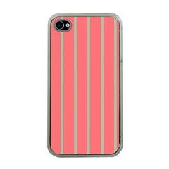 Line Red Grey Vertical Apple Iphone 4 Case (clear)