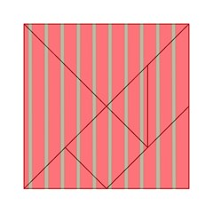 Line Red Grey Vertical Acrylic Tangram Puzzle (6  X 6 )
