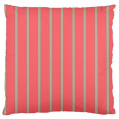 Line Red Grey Vertical Large Cushion Case (one Side)