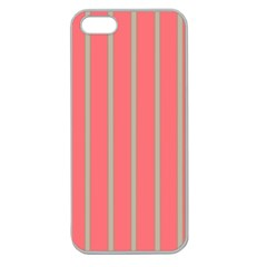 Line Red Grey Vertical Apple Seamless Iphone 5 Case (clear)