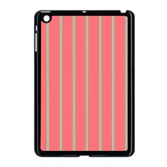 Line Red Grey Vertical Apple Ipad Mini Case (black)