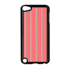 Line Red Grey Vertical Apple Ipod Touch 5 Case (black)
